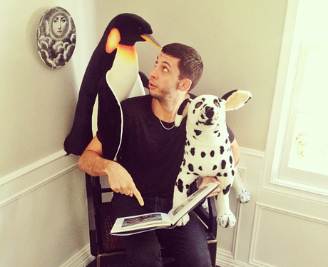 Example with a penguin and dog