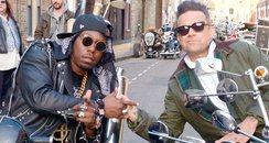 Robbie Williams and Dizzee Rascal film new video