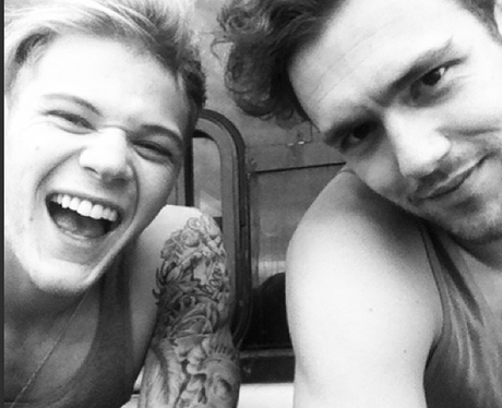 Ryan Fletcher and Andy Brown share a selfie
