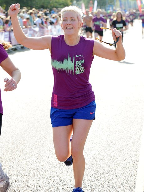 Ellie Goulding running the marathon