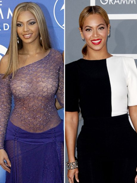 Beyonce at the Grammys: then and now