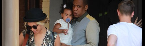 Jay-Z, Beyonce and Blu Ivy