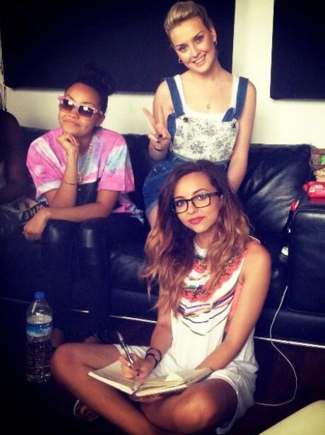Little Mix enjoy a recording studio session