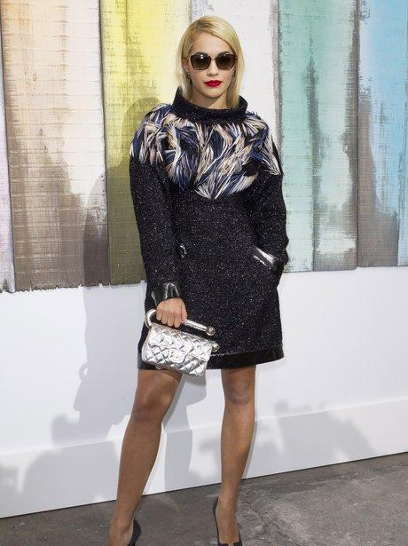 Rita Ora Paris out at Fashion Week 2013