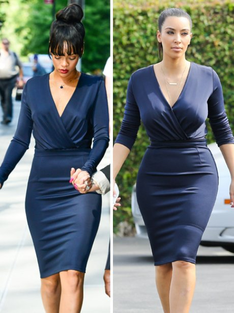 Image result for Rihanna And Kim Kardashian! Who Rocked it Better?