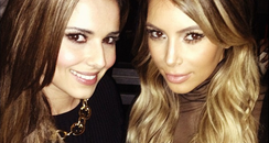 Cheryl Cole and Kim Kardashian wearing black