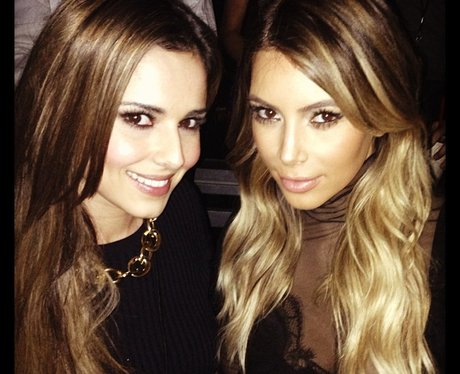 Cheryl Cole and Kim Kardashian at Kanye West's gig