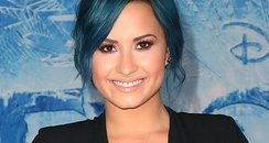 Demi Lovato wiht blue hair