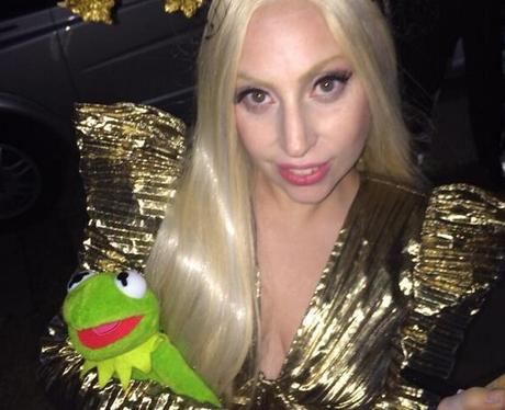Lady Gaga and Kermit