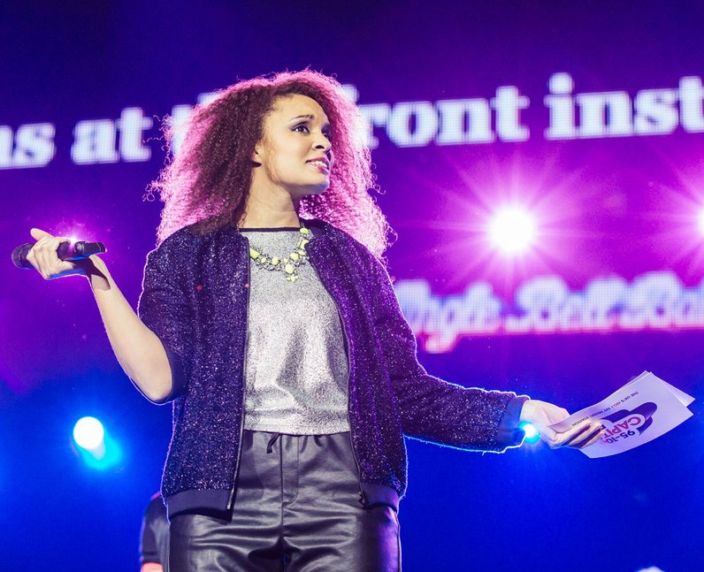 Pandora on stage at the Jingle Bell Ball 2013