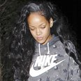 Rihanna with a grey patch in her hair