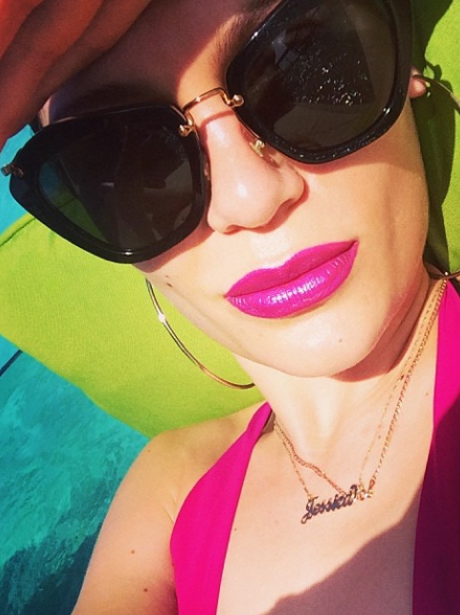 Jessie J on her holidays in January 2014