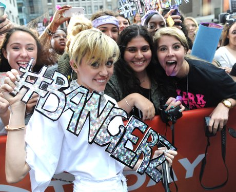 Miley Cyrus and Fans