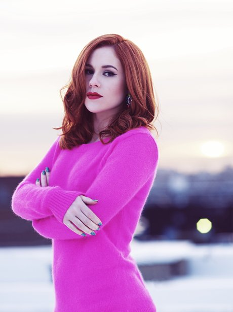Katy B poses to promote new album 'Little Red'