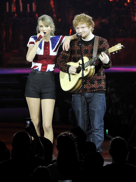 Taylor Swift and Ed Sheeran duet on stage