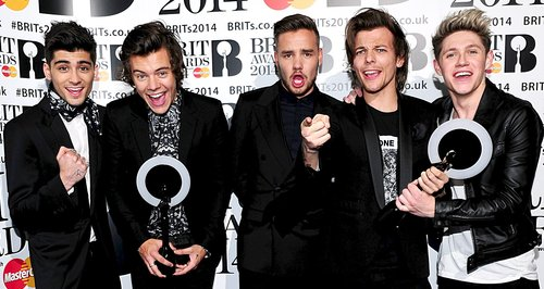 One Direction BRIT Awards 2014 Backstage