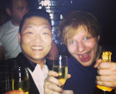 Ed Sheeran and PSY Twitter