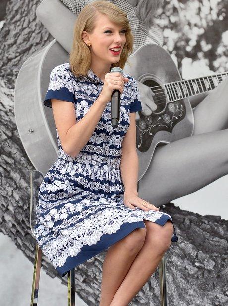 Taylor Swift speaks onstage