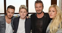 Liam Payne, Niall Horan, David Beckham and Ellie G