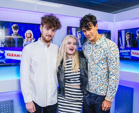 Clean Bandit backstage Summertime Ball 2014