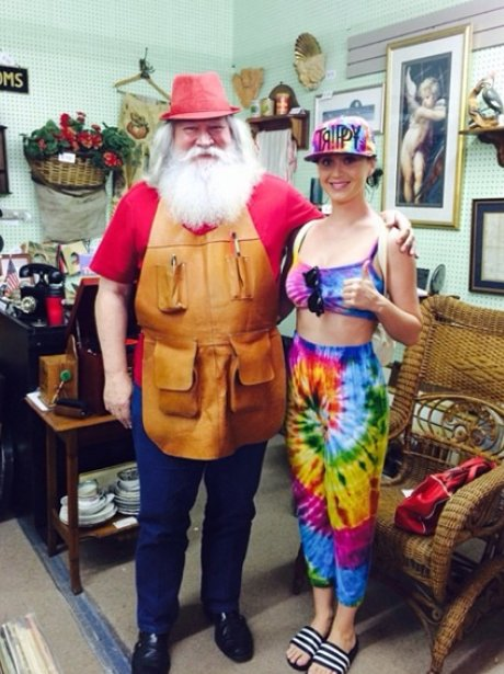 Katy Perry pictured on holiday in Florida.