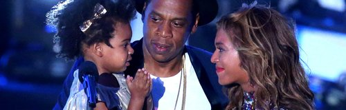 Beyonce, Jay-Z and Blu Ivy Carter MTV VMAs 2014