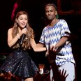 Ariana Grande and Big Sean on stage