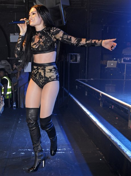 Jessie J performing on stage