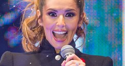Cheryl Cole Christmas Lights 2014