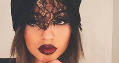 Kylie Jenner showcases dark lip look on Instagram