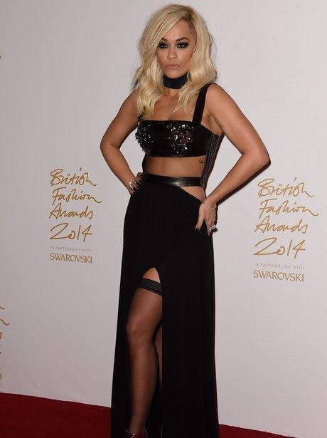 Rita Ora British Fashion Awards 2014