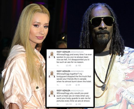 Iggy and Snoop Twitter Feud
