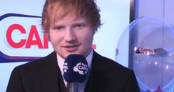 Ed Sheeran BRITs 2015 Backstage