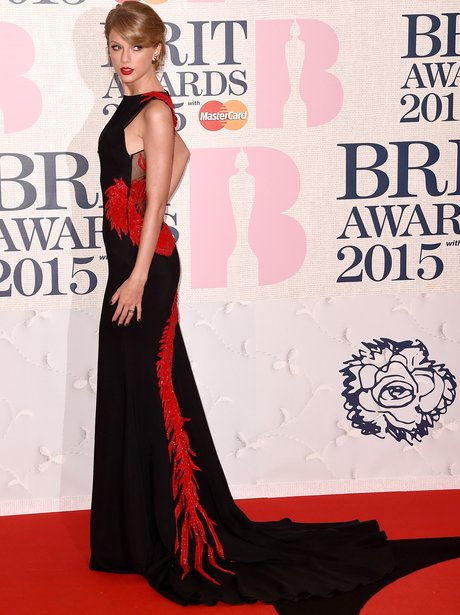 Taylor Swift at The Brit Awards 2015