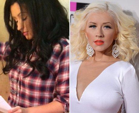 Blond to Brunette: Christina Aguilera