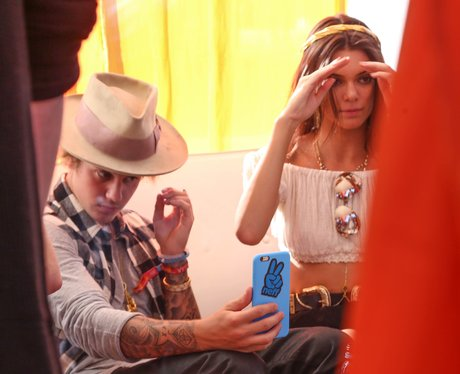 Justin Bieber Checking Himself Out In Phone