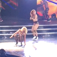 Britney Spears Falls Over On Stage