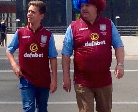 Aston Villa fans before the FA Cup Final