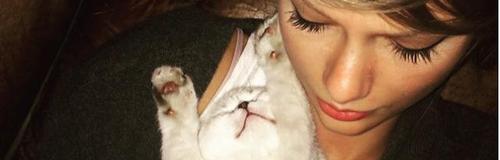 Taykir Swift and her cat