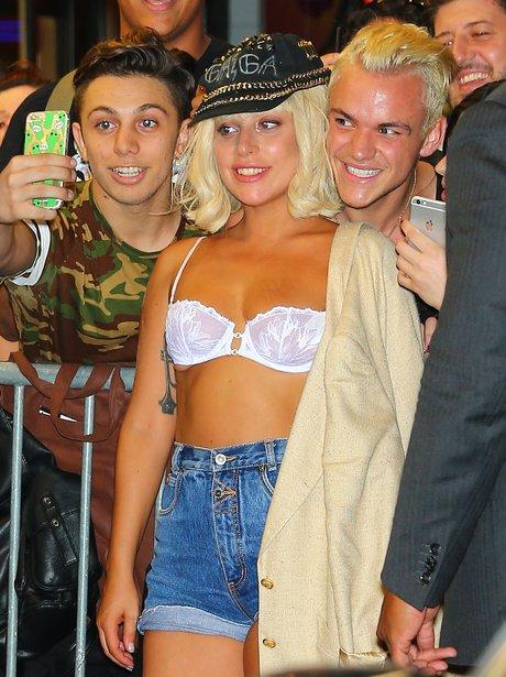 Lady Gaga meets fans