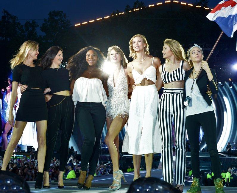 Taylor swift Kendall Jenner Serena William cara del