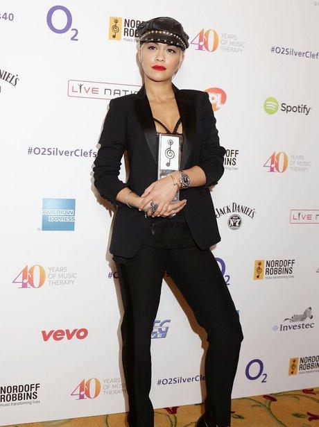 Rita Ora attending the Nordoff Robbins O2 Silver C