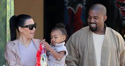 Kim Kardashian, Kanye West and North West