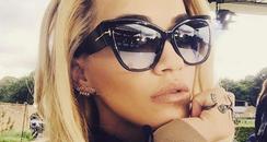 Rita Ora taking a selfie