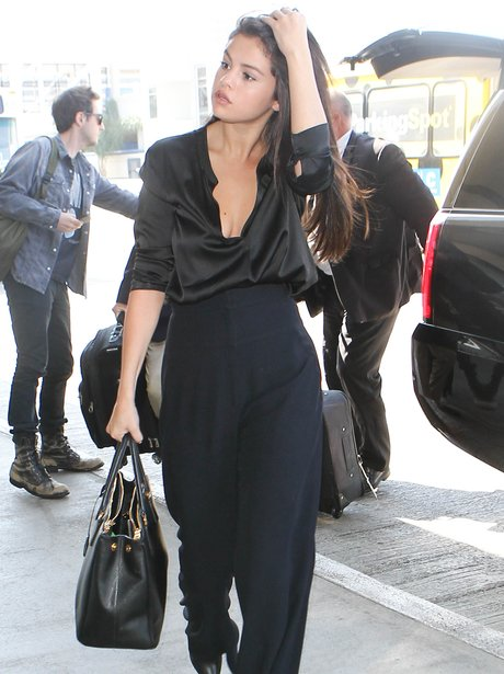 Selena Gomez All Black Outfit