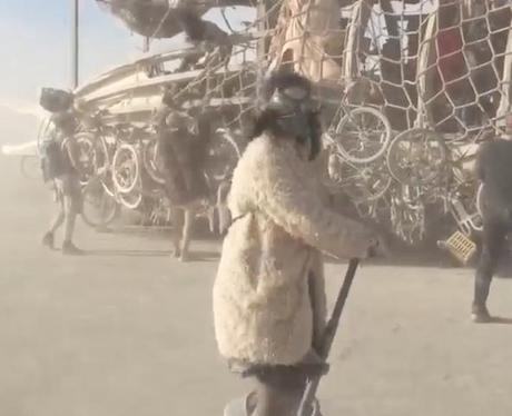 Katy Perry at Burning Man Festival