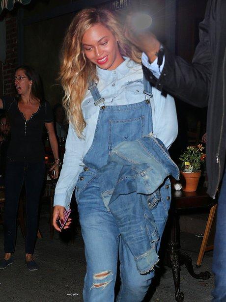 Beyonce Dunagrees Double Denim