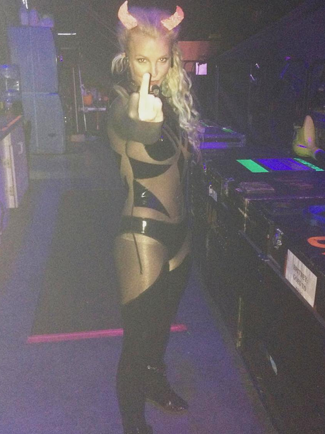 Britney Spears Devil Outfit Halloween Instagram