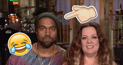 Melissa McCarthy and Kanye West On Saturday Night
