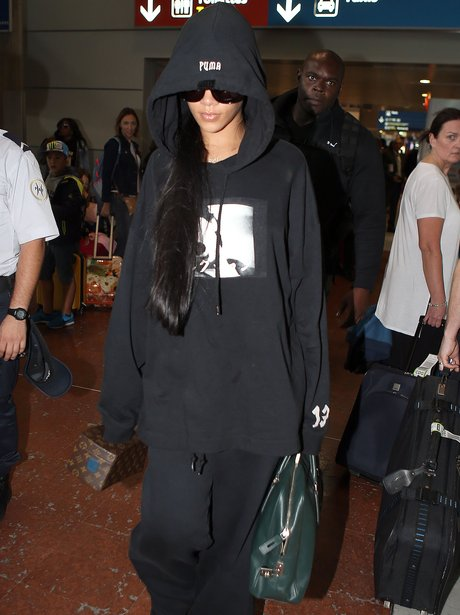 Rihanna arrives in Paris for Fashion Week